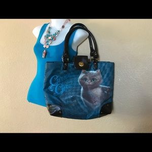 Disney Blue Tote Bag With Cat Image